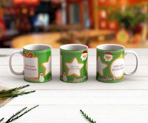 Merry Christmas Mug Green
