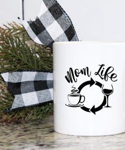 Mom Life White Mug
