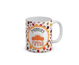 Morning Pumpkin Leaf Mug