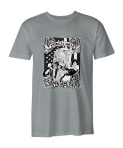 American Dream II T Shirt Silver
