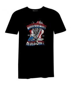 Americans Never Quit T Shirt Black
