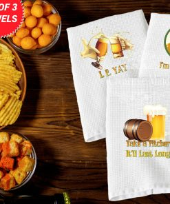 Beer Trio Waffle Weave Towel