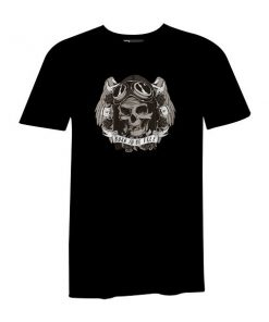 Born To Be Free T Shirt Black