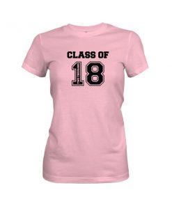 Class of 2018 T Shirt Light Pink