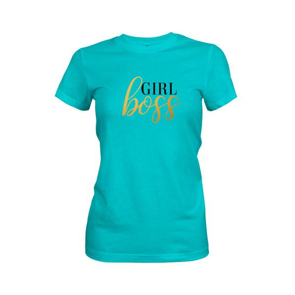 Girl Boss T Shirt Tahiti Blue