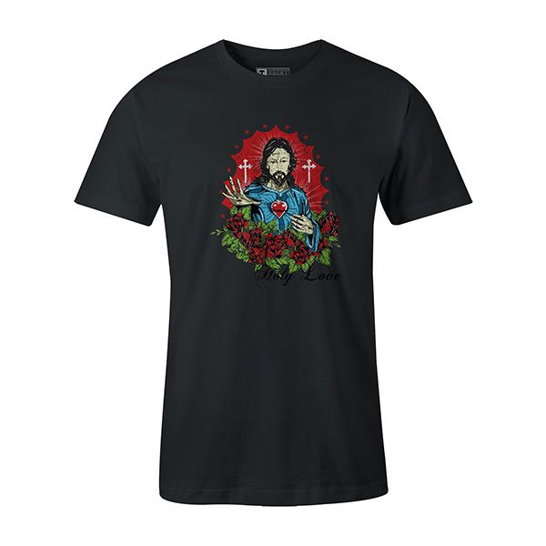 Holy Love T shirt coal