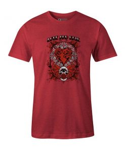 Love And Hate T shirt heather red