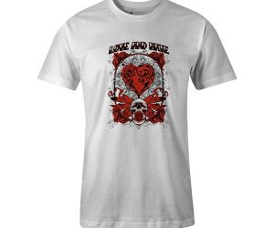 Love And Hate T shirt white