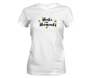 Shake Your Shamrocks T Shirt White