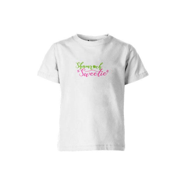 Shamrock Sweetie T Shirt White2