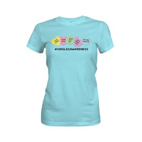 Singles Awareness Womens T Shirt Cancun