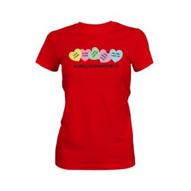 Singles Awareness Womens T Shirt Red