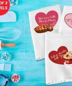 Sweet Valentine Trio Waffle Weave Towel