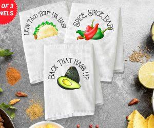 Taco Trio Waffle Weave Towel
