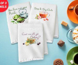 Tea Trio Waffle Weave Towel