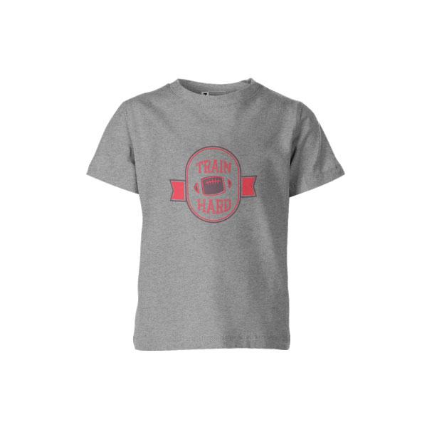 Train Hard T Shirt Heather Grey