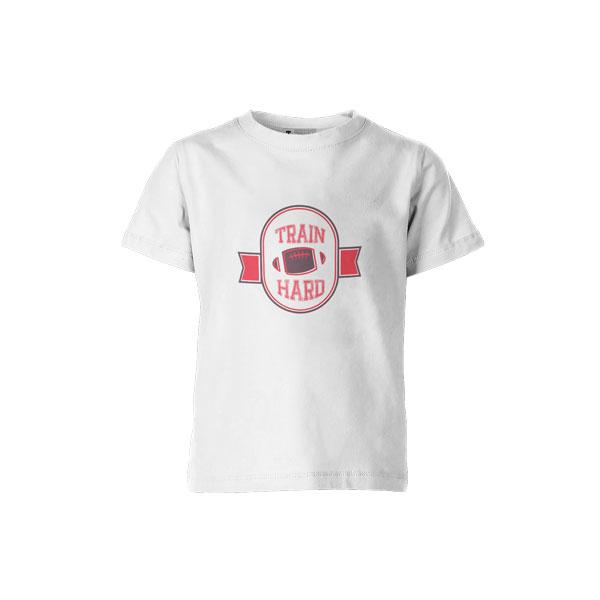Train Hard T Shirt White