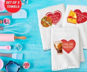 Valentine Trio Waffle Weave Towel