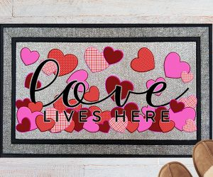 Love Lives Here Welcome Doormat