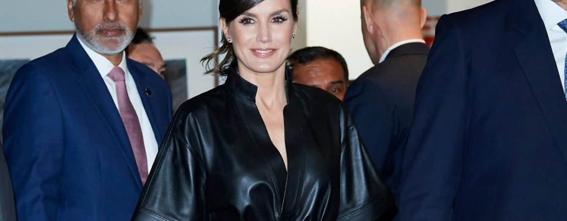 Queen Letizia's Leather Dress Is, Dare We Say It, Sexy