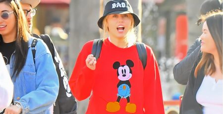 It Wasn't a Party in the USA Until Miley Cyrus Walked in Wearing This Mickey Hoodie
