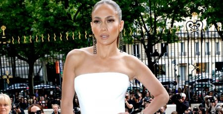 Jennifer Lopez's Wedding Dress Is Going to Make You Spill Your Drink, Without Question