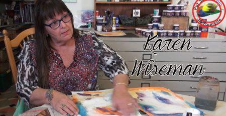 Mixed media art tutorials with Karen Wiseman | Colour In Your Life