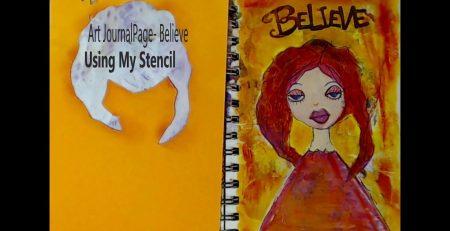 Art Journal Page Believe #mixedmediaart #mixedmediaarttutorials #tutorials