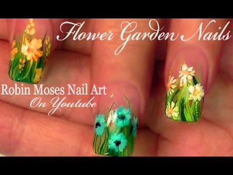 3 Nail Art Tutorials | Easy Nail Art Flower Garden | DIY Designs for nails