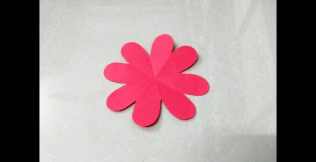 How to make simple & easy paper flower - 1   Kirigami / Paper Cutting Craft Videos & Tutorials.
