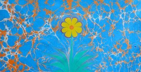 XandA Ebru Art Tutorials - Flowers #1 - Daisy