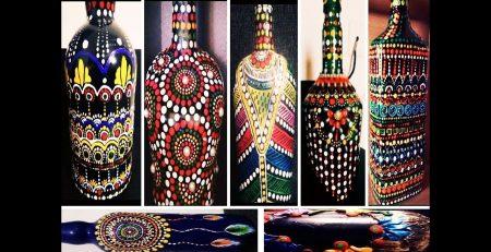 8 Amazing bottle painting tutorials  wine bottle decorating ideas  bottle art