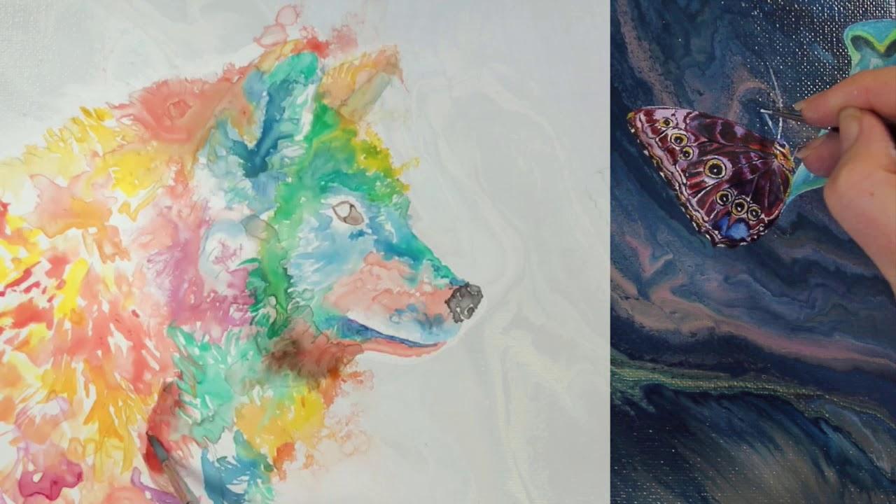 Artist Collaboration artworks with Ellen Brenneman Studio and Sheldene Fine Art Tutorials