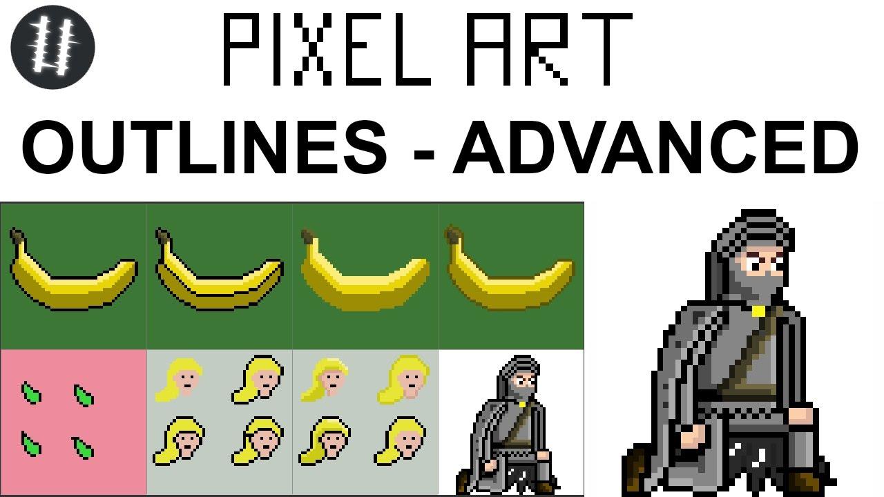 How To Pixel Art Tutorials [11] - Outlines - Advanced
