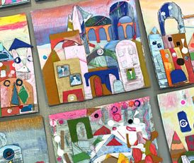 It's a Small World Cardboard Collage