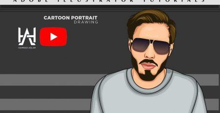 Vector Art - Vector Portrait drawing - Cartoon Yourself - Adobe illustrator tutorials