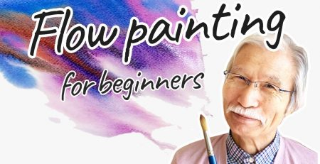 [Eng sub] Flow Painting for beginners   Watercolor Easy Tutorial
