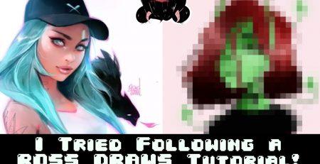 I tried following a ROSS DRAWS Digital Art Tutorial!
