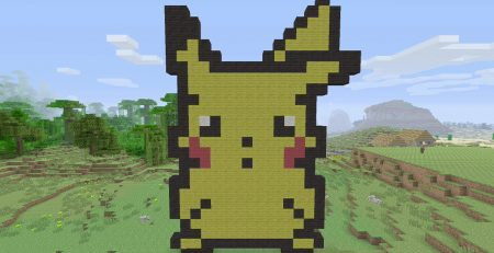 Minecraft Tutorials - Pikachu Pixel Art
