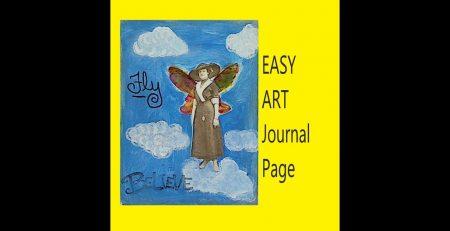 Easy Art Journal Page #artjournalpage #mixedmediaarttutorials #tutorials