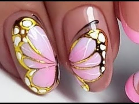 18 New Nail Art Designs | Amazing Butterfly Nail art Tutorials Compilation??  #10