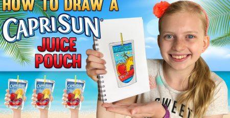 Draw a Super Cute Tropical Pouch Drink    Art with Alyssa