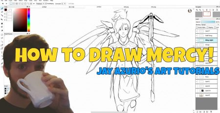 How To Draw Mercy from Overwatch!| Jay's Art Tutorials