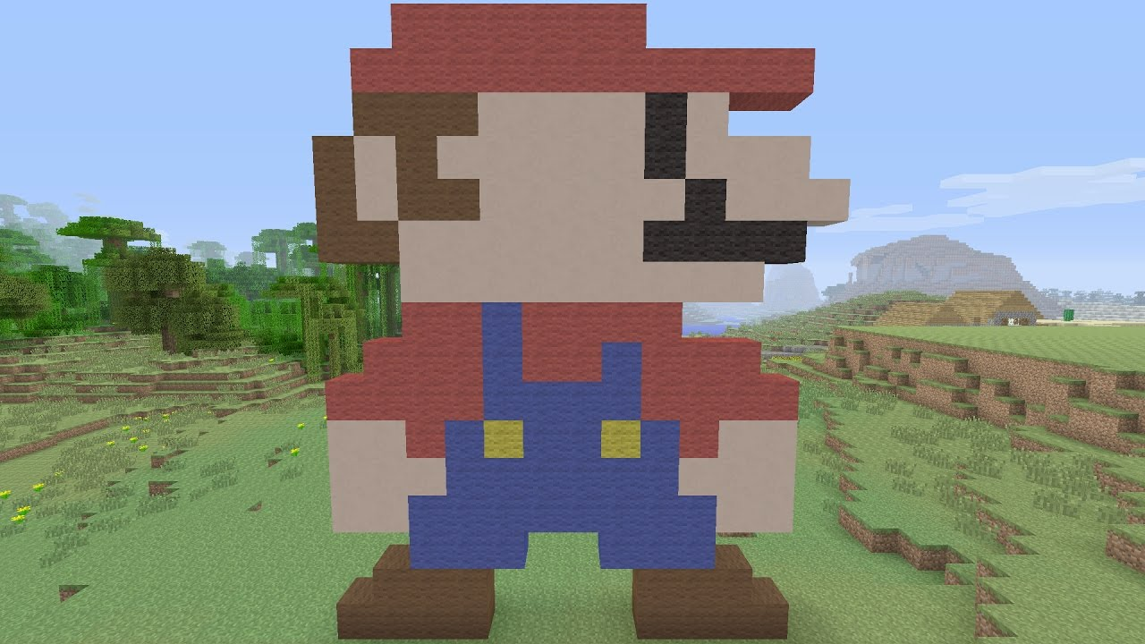 Minecraft Tutorials Mario Pixel Art Creartive Mind