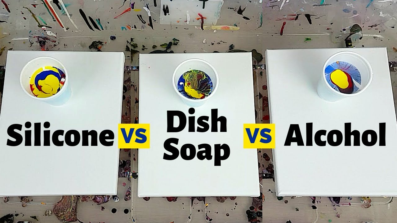 Acrylic Pour Cells: Silicone vs Dish Soap vs Alcohol - Which Cells Recipe Works the best???🤔🤓