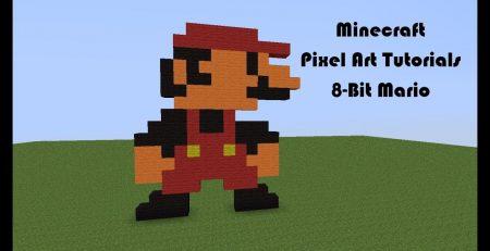 Minecraft Pixel Art Tutorials: 8-Bit Mario