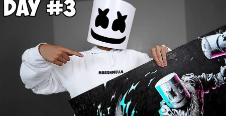 Drawing 50 Hours Straight - Marshmello