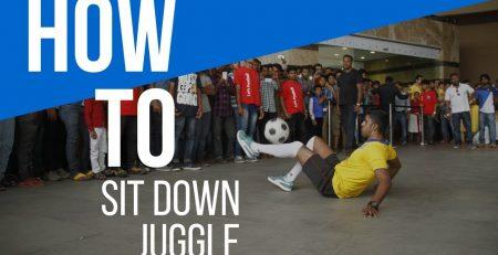 How to juggle a Football sitting down | PRSOCCERART TUTORIALS #24
