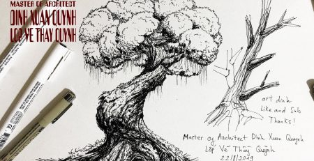 how to draw Trees - drawing tutorials tree trunks & branches