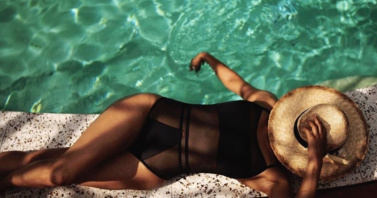 Halle Berry's $41 Swimsuit Has So Many Sheer Panels, We Don't Know Where to Look First